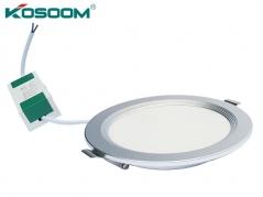 Đèn LED âm trần 12W siêu mỏng viền bạc