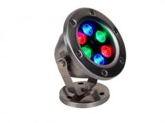 Đèn âm nước 6W RGB đế kim loại