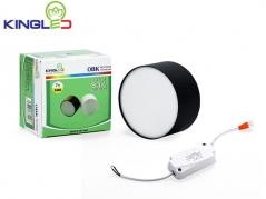 Đèn ống bơ LED 7W tán quang (vỏ đen)