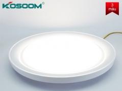 Đèn LED ốp trần 3 màu APOLO trong suốt