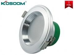 Đèn LED âm trần 7W 3 màu viền bạc