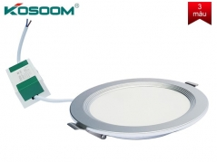 Đèn led âm trần đổi màu 8W siêu mỏng viền bạc
