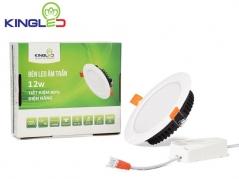 Đèn LED âm trần Downlight 12W đơn sắc tán quang