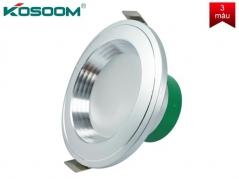 Đèn LED âm trần 7W 3 màu viền trắng