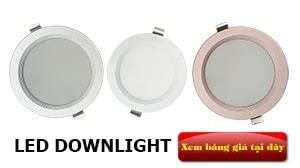 Báo giá đèn LED âm trần Downlight (mới nhất năm 2019)