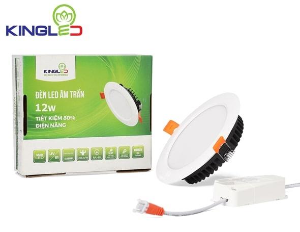 Đèn LED âm trần Downlight 12W đổi màu 3 chế độ
